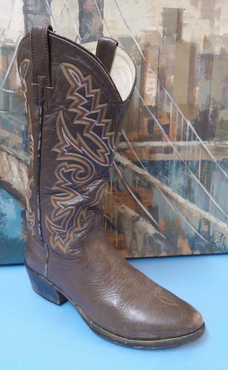 P S Ferrini Dark Braun Damenschuhe Cowboy Stiefel, Größe 8 D