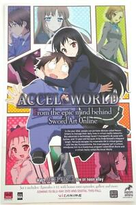New-ACCEL-WORLD-Double-Sided-Promotional-Poster-17-034-x-11-034