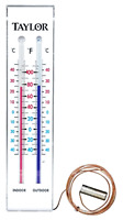 Brand Taylor Indoor & Outdoor Thermometer Large Easy To Read Face