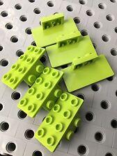 LEGO Red Bracket 1x2-2x2 Angle Plate Bricks New Lot Of 12