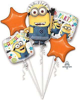 Despicable Me Minion Hooray & Party Favor 5CT Foil Balloon Bouquet