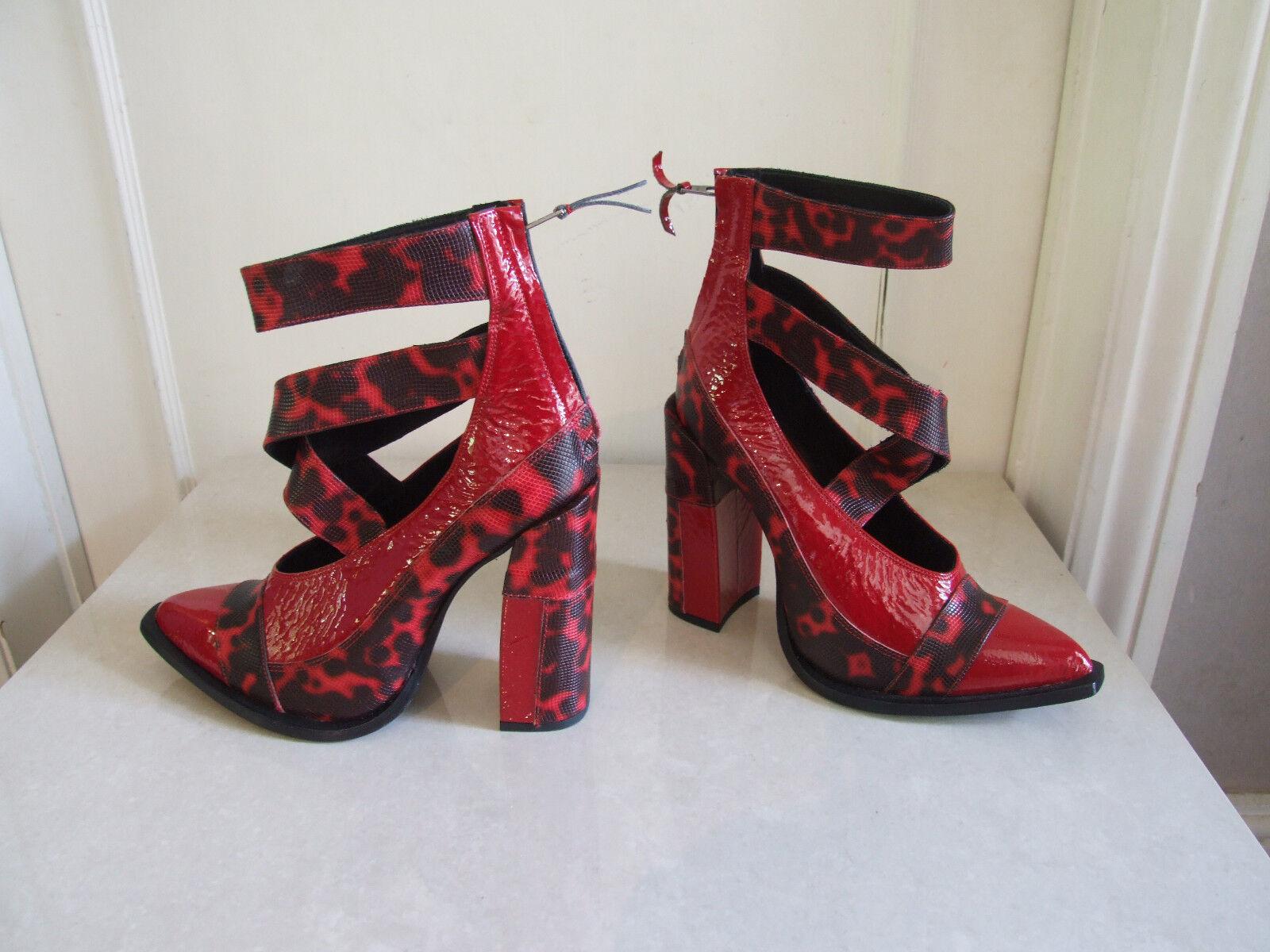 essere molto richiesto Exquisite rosso Pelle Di Serpente Plateau Zeppa Fiammeggiante Scarpe Scarpe Scarpe Sandali EU 40 NUOVI  colorways incredibili