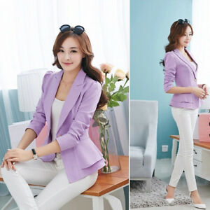 Women-Slim-OL-Suit-Casual-Blazer-Jacket-Coat-Tops-FASHION-Outwear-Long-Sleeve-M