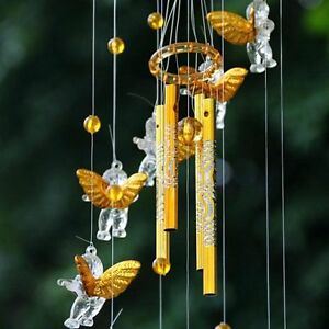 Image Is Loading 4 Tubes Bell Wind Chimes Home Yard Amazing