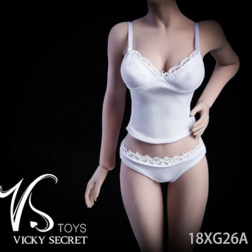 """1//6 Camisole Panties Underwear Set For 12/"""" PHICEN JIAOU DOLL Female Figure USA"""