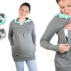 2 in 1 Mutterschaft Schwangerschaft Stillpullover Umstandspullover Umstandsmode