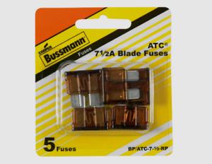 5pk-Bussmann-Buss-ATC-7-5-Amp-32V-Auto-Car-Truck-0-8-034-Blade-Fuse-BP-ATC-7-1-2-RP