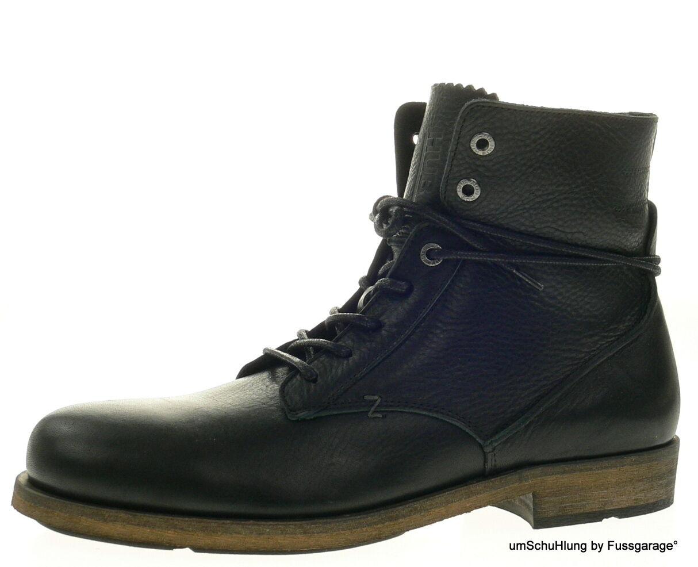 HUB Footwear HerrenSchuhe SCRUM L schwarz schwarz Echtleder Stiefeletten Boot NEU