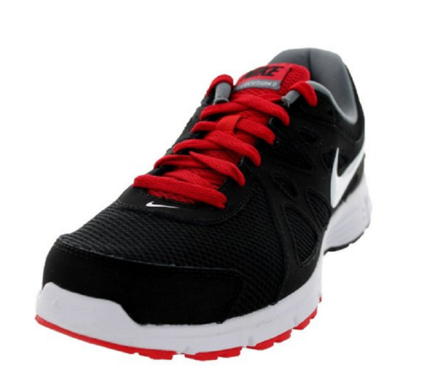 get cheap new style new specials Men's Nike Revolution 2 Running Shoes Size 10.5 D(M) Black/White/Varsity Red