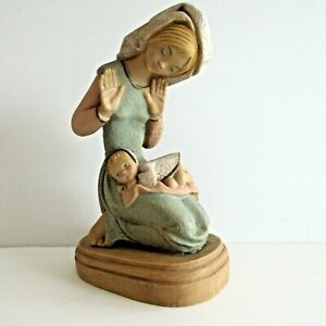 Mary-and-Jesus-Madonna-and-Child-Figurine-Resin-or-Ceramic-Painted-7-5-inches