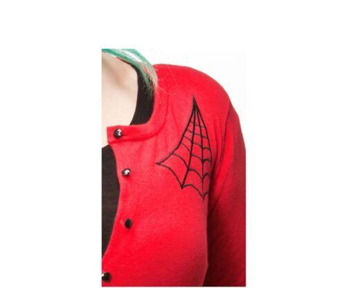 Red Spiderweb Cardigan Sourpuss