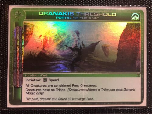 Chaotic Card SUPER RARE Dranakis Threshold To The Past Mint Condition