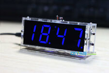 electronic clock blue LED microcontroller digital time Light Control Temperature