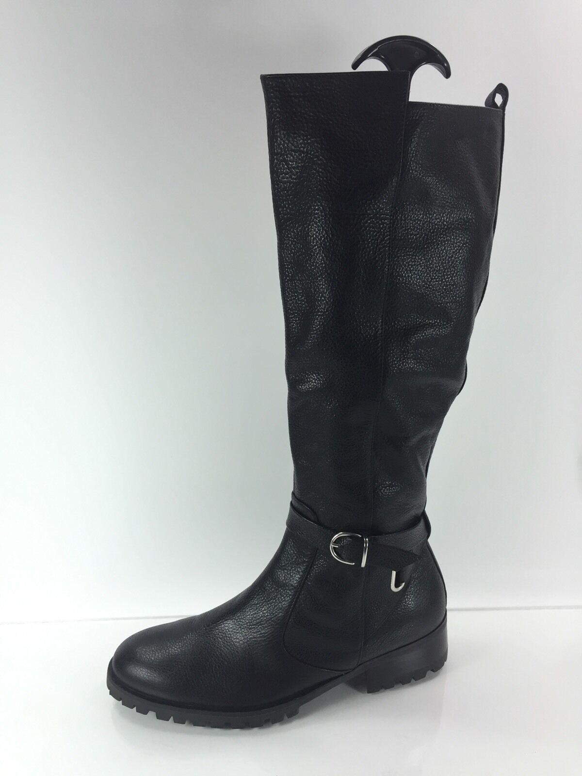Tesori Rodilla botas De Cuero Negro De Mujer 7 M