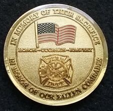 BEAUTIFUL Memory of Fallen Fire Fighter & EMS Honor USA Namozine Challenge Coin