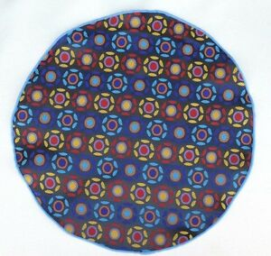 Lord R Colton Masterworks Pocket Round Madrid Blue Dot Silk $75 Retail New