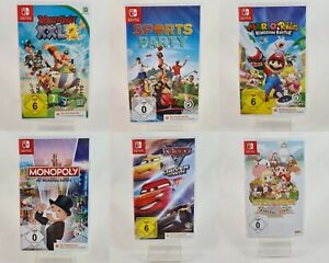 Nintendo Switch Spiele Cars Monopoly Story of Season Mario&Rabbids Sportpart NEU