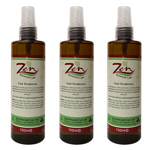 FOOT DEODORISER Organic 150ml  Pack of 3   BY ZEN PERSONAL CARE - <span itemprop=availableAtOrFrom>Boston, United Kingdom</span> - If not completely satisfied, refund can be given less any postage costs Most purchases from business sellers are protected by the Consumer Contract Regulations 2013 which give you the righ - Boston, United Kingdom