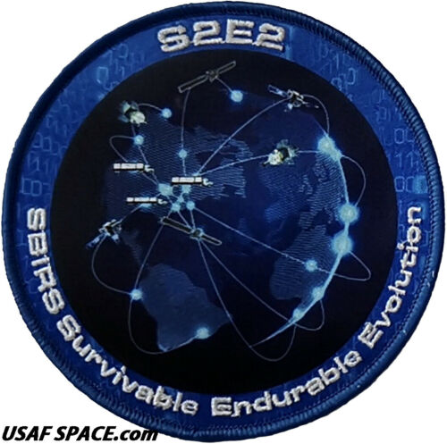 ORIGINAL LOCKHEED SPACE BASED INFRARED SURVEILLANCE SBIRS S2E2 USAF SPACE PATCH