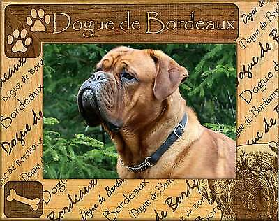 DOGUE DE BORDEAUX: ENGRAVED ALDERWOOD FRAME #0068. In four sizes