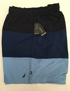 9162017412b132 Nautical Mens Big & Tall Quick Dry Colorblock Swim Trunks Shorts ...