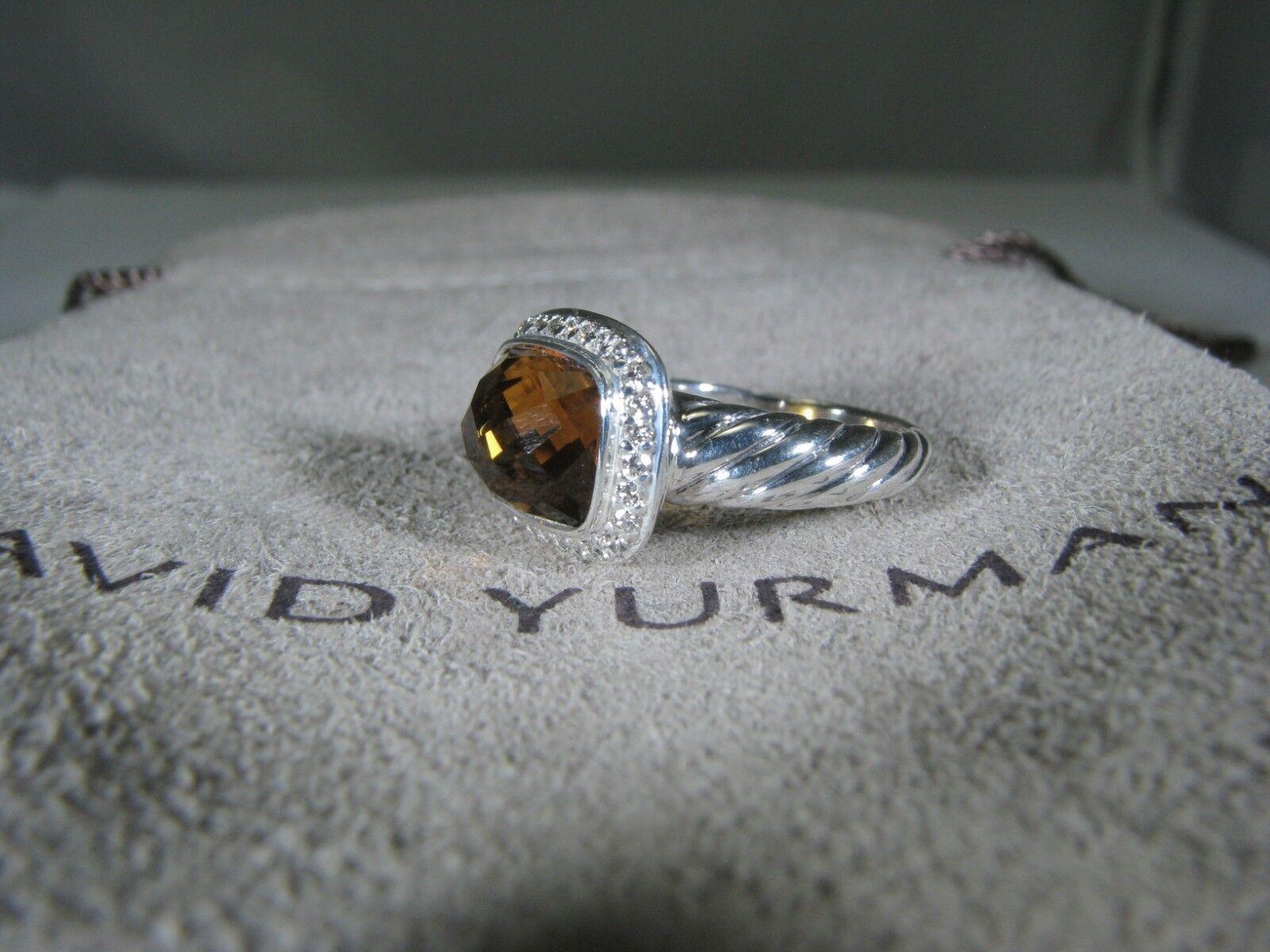 DAVID YURMAN AUTHENTIC NOBLESSE CITRINE PAVE DIAMOND RING   SIZE 5 D.Y.POUCH