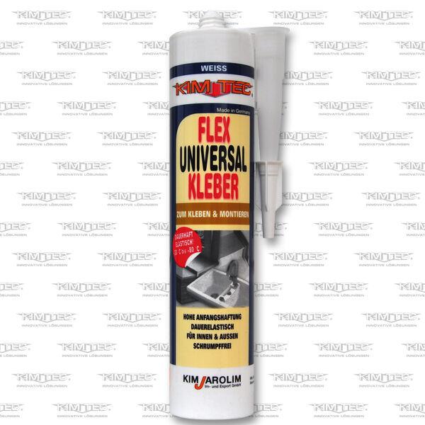 Montagekleber Universal Kleber Baukleber weiß Kartusche flexibel innen außen 4x