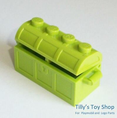 ID 4738 4739 2x4 Opening Treasure Chest Bright Yellowish Green NEW Lego
