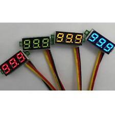 2pc 3 Wire 0-100V DC Digital Mini LED Display 0.28'' Voltmeter Voltage Meter Car