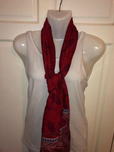 WOMEN WINE RED PAISLEY RETRO PRINTED LONG FAHSION SCARF,SHAWL,SHOULDERWRAP STOLE