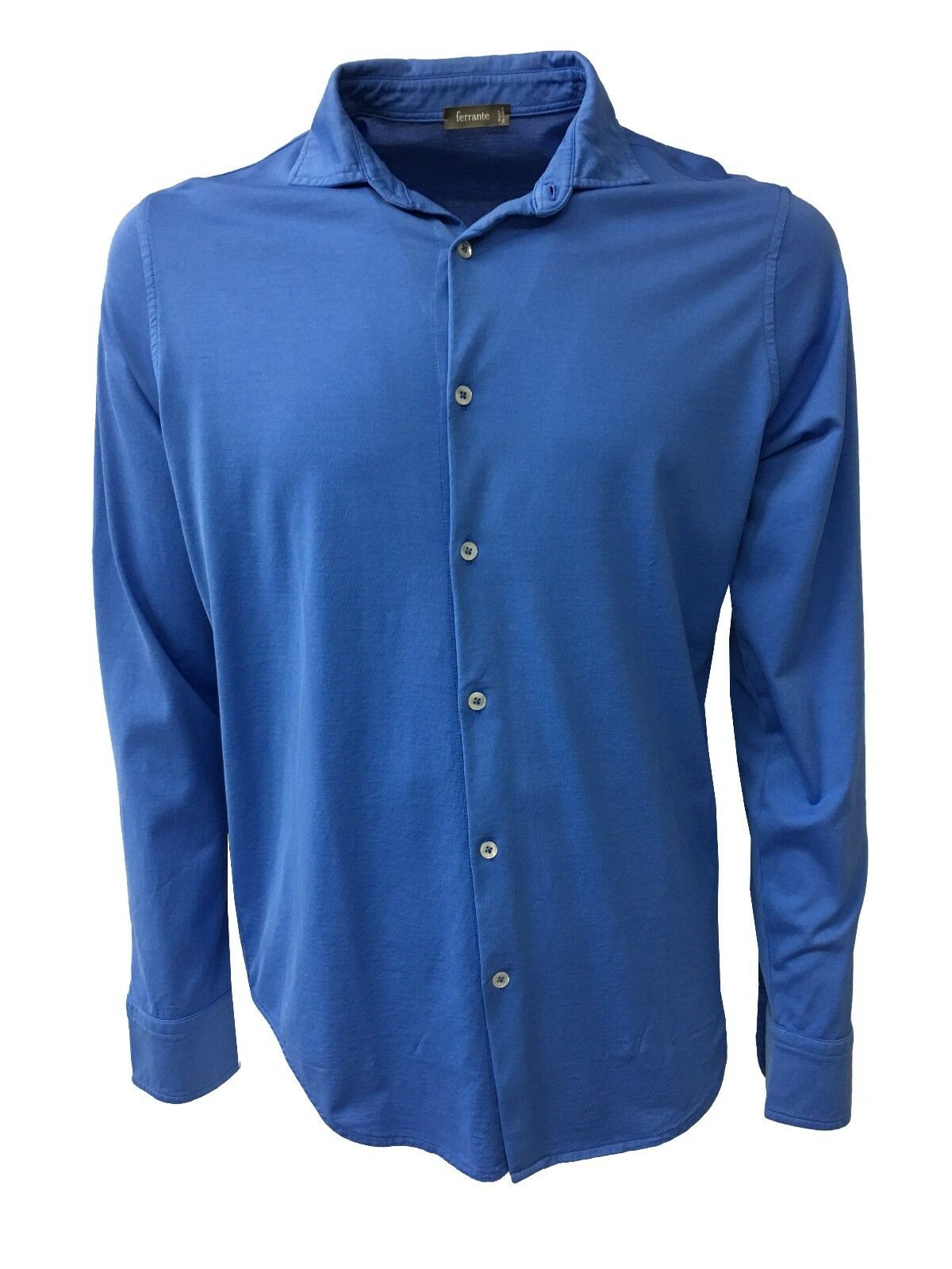 FERRANTE men's long sleeve shirt 100% cotton MADE IN ITALY 32611