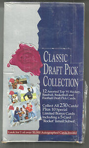 1991 CLASSIC 4 SPORT DRAFT PICKS FACTORY SEALED BOX FARVE, FORSBERG ROOKIES
