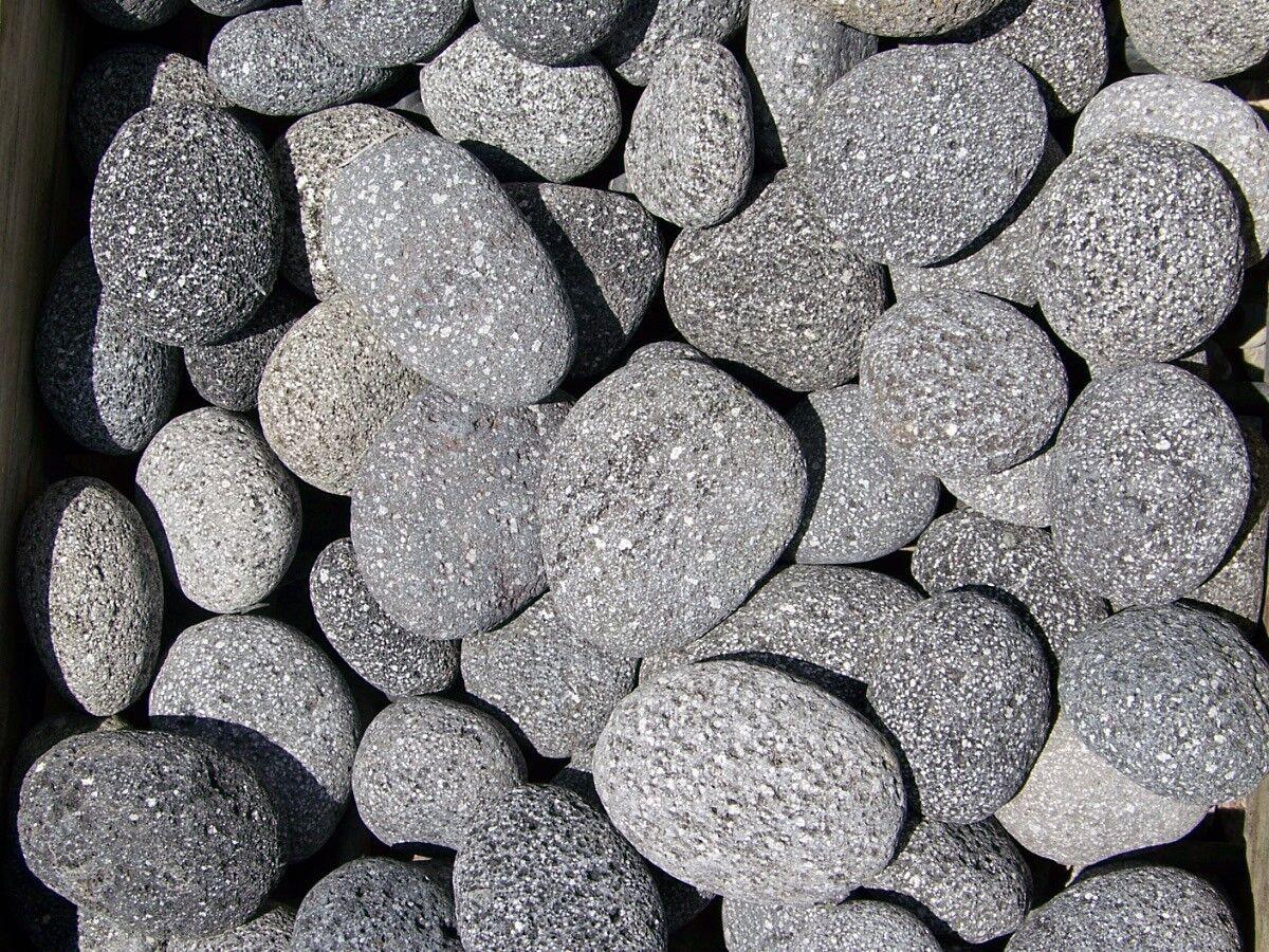 Decorative Stone Ground Cover : Quot black mexican beach lava pebbles decorative landscape