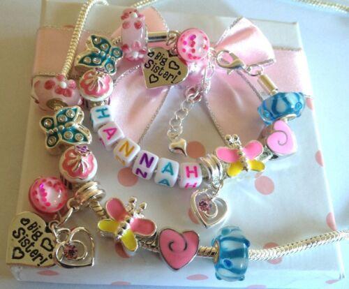 Personalisiert mädchen tochter bettelarmband halskette set Wähle charm n