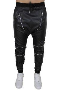 Dell'immagine Nero Cavallo Basso Caricamento Ecopelle Pantaloni Casual Corso Diamond Uomo In xQedErWCBo