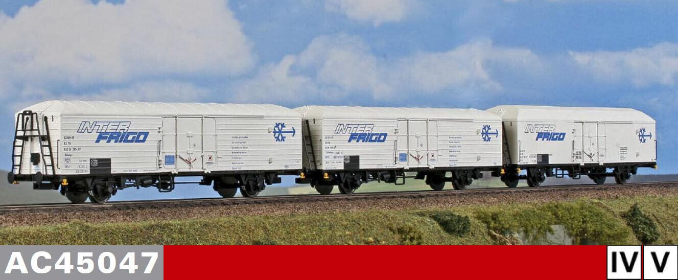 """ACME 45047  3-teiliges Kühlwagen-Set """"Interfrigo"""", Ep. IV-V"""