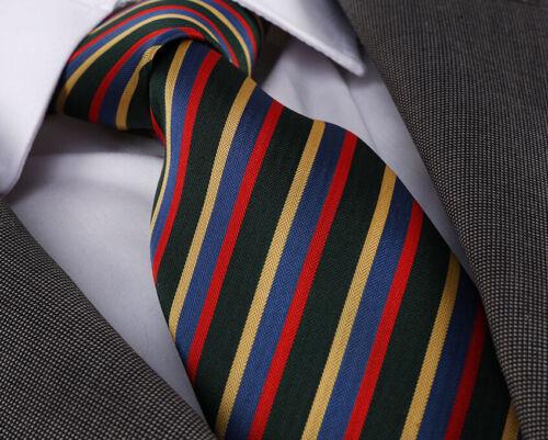 Or Rouge Handmade Tie pd-8530 Bleu Messieurs de qualité Cravate Fait Main Vert