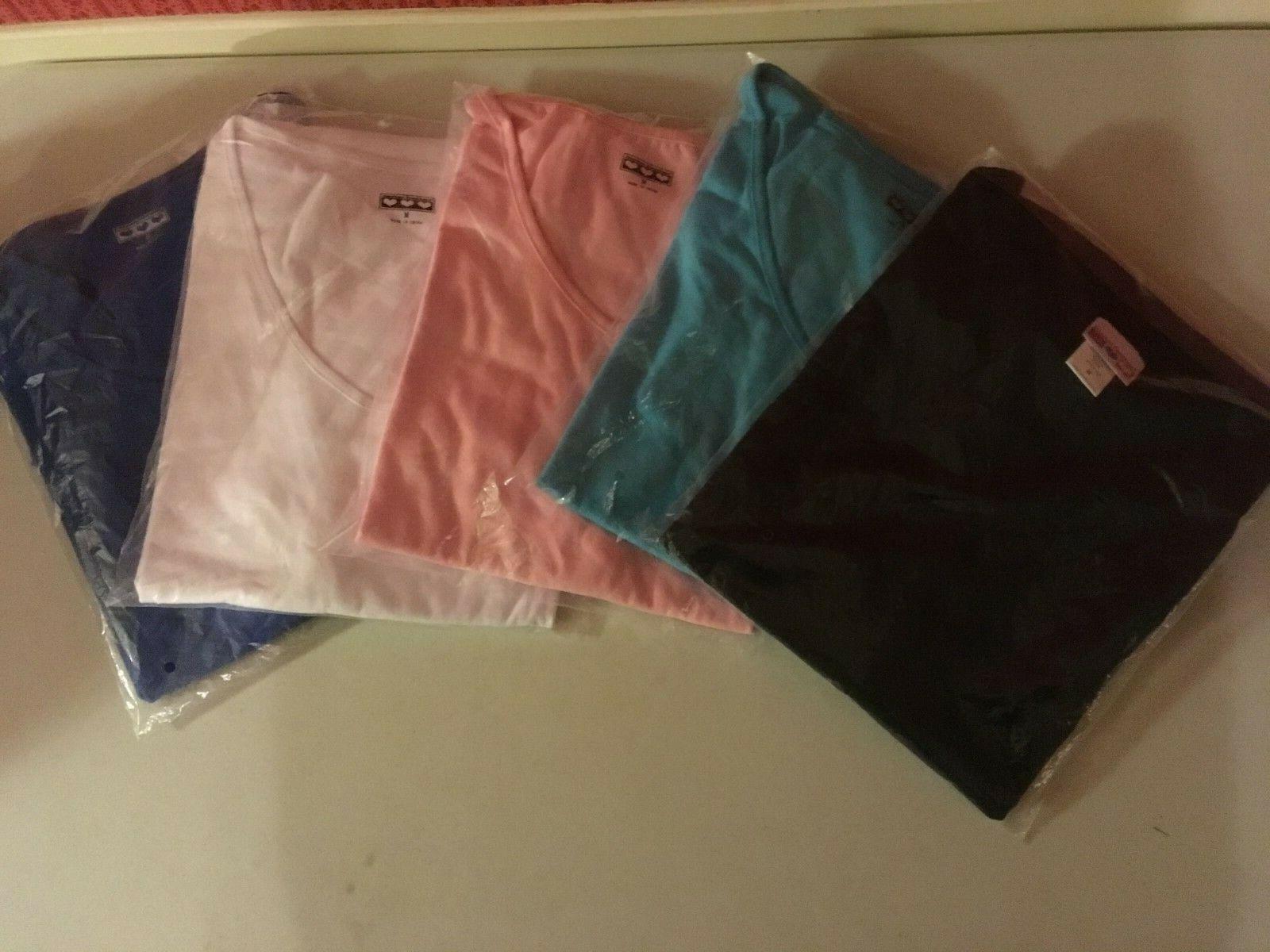 5 American Sweetheart Md.Blau, Weiß, Rosa, schwarz Cotton Blend T-Shirt, SH Sleev