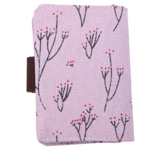 O7G7 Blumen Kreditkartenfaecher Halter Beutel Tasche Rosa