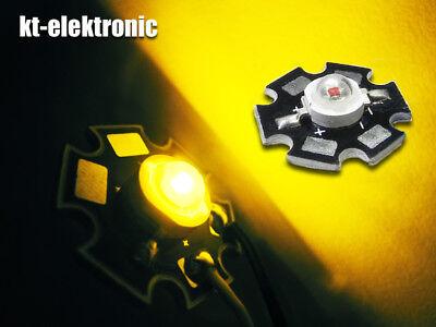 3 unidades UF = 2,2v 1w Power LED amarillo 590nm Star IMAX = 350ma