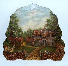 awesome!! ANTIQUE 3-D Wall Picture-wood & Plaster of Paris-very detailed-LQQK!