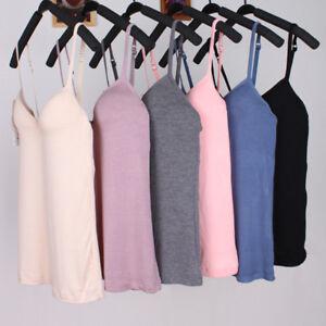 Reino-Unido-Para-mujeres-Prendas-para-el-torso-Camisola-con-construido-en-sujetador-acolchado