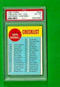 1963-TOPPS-BASEBALL-509-CHECKLIST-507-576-PSA-4-VG-EX-UNMARKED