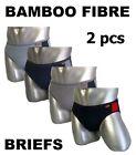 2 x Mens Bamboo Fibre Briefs Underwear Undies Underpants Brief Australian Sizes