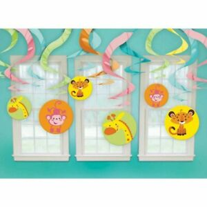 Baby Shower Decorations - Swirls - Jungle Theme for Boy Baby - FREE SHIP (#1115)