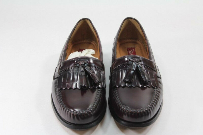 Bass Grammer shoes Size 7.5D Wine Red Leather Loafers Excellent condition