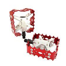 "Old school 1//2/"" BMX XC-II Wellgo bear trap pedal ONE PIECE CRANKS Red"