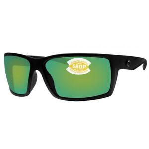 13a2bc4bb83 NEW Costa del Mar Reefton Blackout Frame   Green Mirror 580P Lenses ...