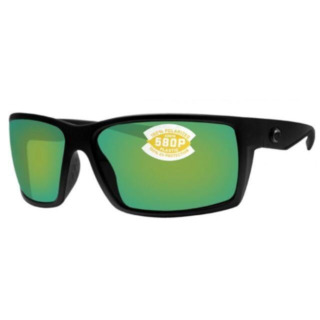 e8a9aa2229 NEW Costa del Mar Reefton Blackout Frame   Green Mirror 580P Lenses RFT 01  OGMP