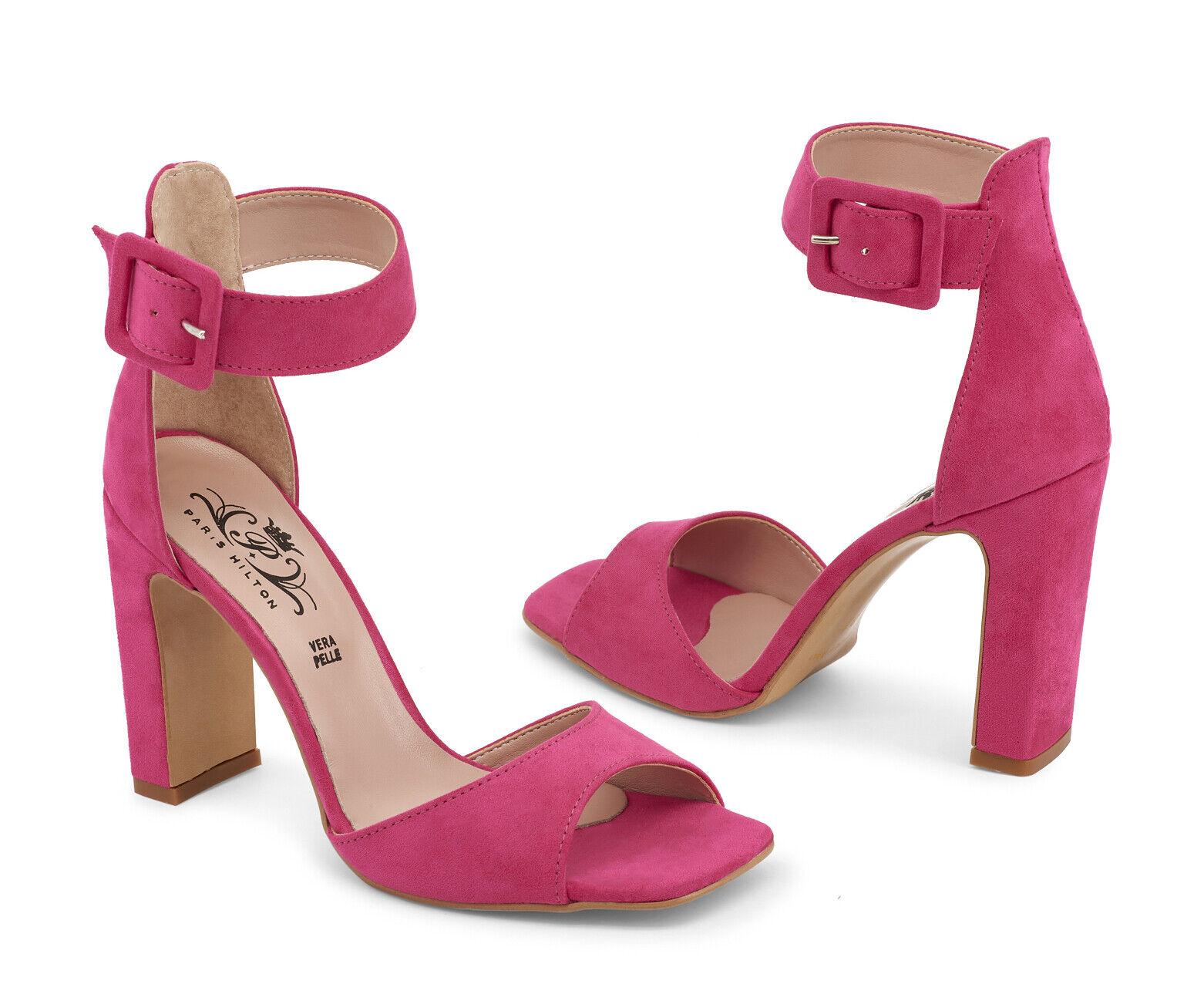 Da Donna con Paris Hilton TACCO ALTO PEEPTOE partito abiti abiti abiti da sposa da sera sandali scarpa taglia 76d2a8